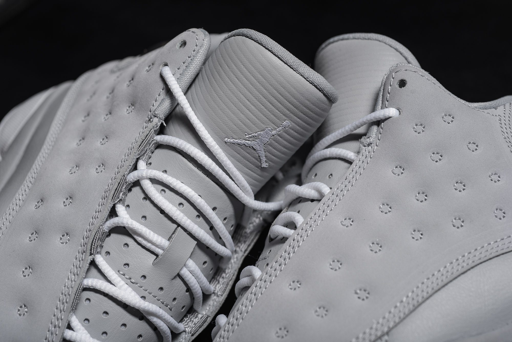release date 5c87b 4becc ... WOLF GREYWHITE-  Mens Air Jordan 13 Cool Grey Retro shoes ...